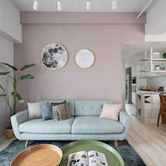 Living room by 知域設計,