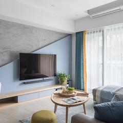 اتاق نشیمن توسط知域設計, اسکاندیناویایی