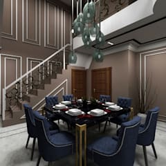 Residential Project - Interiors :  Dining room by ArchLit Design Studio