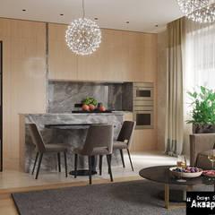 Dream house - дизайн дома в современном стиле : Встроенные кухни в . Автор – Дизайн студия 'Акварель'