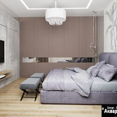 Habitaciones pequeñas de estilo  por Дизайн студия 'Акварель'