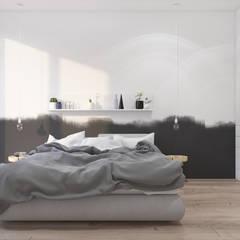 Sypialnia 19.: styl , w kategorii Sypialnia zaprojektowany przez KOSAKOWSKI STUDIO