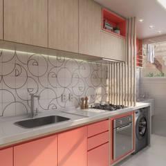 Cocinas pequeñas de estilo  por Estúdio 465 - Arquitetura & Interiores , Moderno Madera Acabado en madera