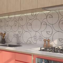 Armarios de cocinas de estilo  por Estúdio 465 - Arquitetura & Interiores, Moderno Tablero DM