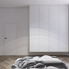 Mieszkanie w kamienicy: styl , w kategorii Sypialnia zaprojektowany przez KOSAKOWSKI STUDIO