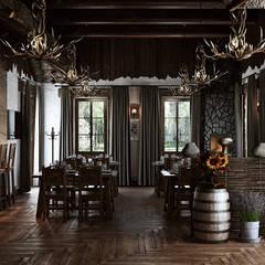 Restaurantes de estilo  por mlynchyk interiors , Rústico Madera Acabado en madera