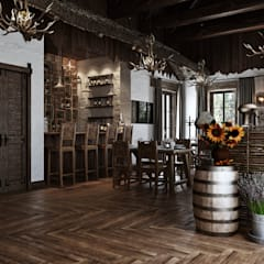 Restaurantes de estilo  por mlynchyk interiors , Rústico Bambú Verde