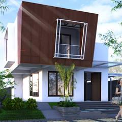proyek exterior: Rumah oleh ARK-chitect.studio, Modern