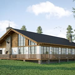 CHALLET: Деревянные дома в . Автор – mlynchyk interiors ,