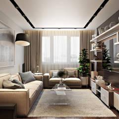Квартира в ЖК «1147»: Гостиная в . Автор – 'INTSTYLE'