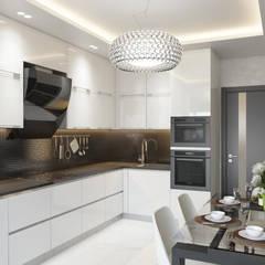 Квартира в ЖК «1147»: Встроенные кухни в . Автор – 'INTSTYLE'