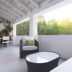 Residenze Quadrivium: Balcone in stile  di Desearq Studio _ architettura e interior design a Milano