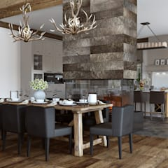 Dining room by mlynchyk interiors