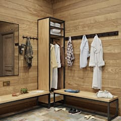Dressing room by mlynchyk interiors , Rustic