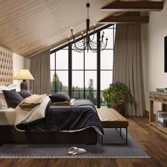 Guesthouse with SPA: Спальни в . Автор – mlynchyk interiors ,