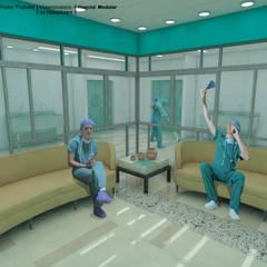 HOSPITAL REGIONAL: Pisos de estilo  por LAC ARQUITECTURA HOSPITALARIA