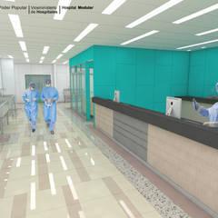 HOSPITAL REGIONAL: Pasillos y hall de entrada de estilo  por LAC ARQUITECTURA HOSPITALARIA
