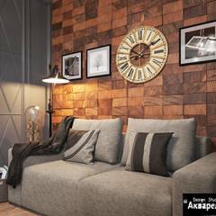 Интерьер четырехкомнатной квартиры в стиле американской классики : Рабочие кабинеты в . Автор – Дизайн студия 'Акварель'