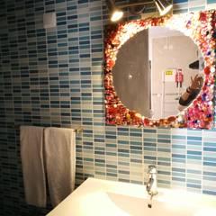 Casa Napron Casas de banho ecléticas por Atelier Ana Leonor Rocha Eclético