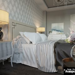 Petites chambres de style  par Дизайн студия 'Акварель'
