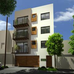 EDIFICIO DEPARTAMENTAL EN COL OBRERA: Casas multifamiliares de estilo  por ARQUIQUALITA