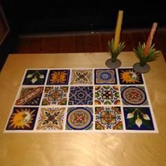 Płytki meksykańskie Wiejska sypialnia od Cerames Wiejski Ceramiczny