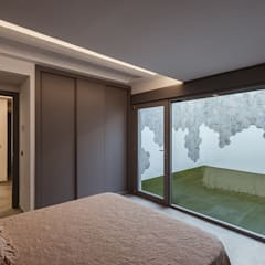 Small bedroom by OOIIO Arquitectura, Modern Wood Wood effect