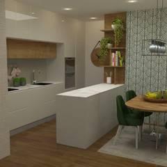 Cozinhas: Oito inspirações para a sua!: Cozinhas embutidas  por Casactiva Interiores