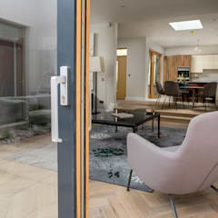 Luxury Contemporary Development Project:  Sliding doors by Marvin Windows and Doors UK, Modern Aluminium/Zinc