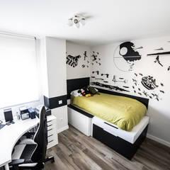 Reforma las Tablas, Madrid: Dormitorios pequeños de estilo  de Vivienda Sana