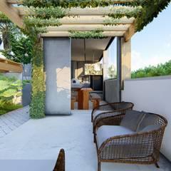Balcón de estilo  de Marcela Martins Arquitetura