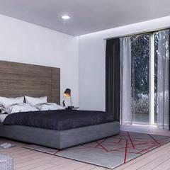 Renders (Visualización arquitectónica): Recámaras de estilo  por Arka Studio
