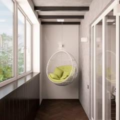 Balkon oleh ekovaleva.prodesign, Minimalis