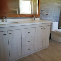 Diseño de Cocina, baños, loggia y closet en Osorno: Baños de estilo  por Quo Design - Diseño de muebles a medida - Puerto Montt