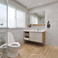 透天住宅設計 = 無 印 簡 約 S t y l e:  浴室 by 森畊空間設計, 簡約風 石英