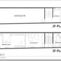 Projekty,  Dom szeregowy zaprojektowane przez 森畊空間設計