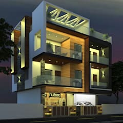 Elevation Designs in Hyderabad Mediterranean style houses by Sky architects Mediterranean