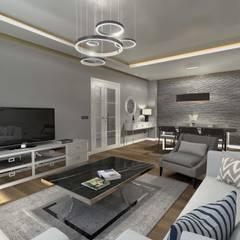 Orby İnşaat Mimarlık – Loca Efes Projesi:  tarz Oturma Odası,