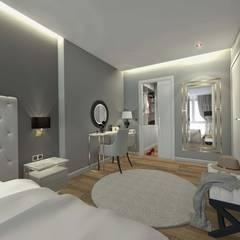 Orby İnşaat Mimarlık – Loca Efes Projesi:  tarz Küçük Yatak Odası