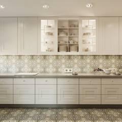 Płytki cementowe: styl , w kategorii Kuchnia na wymiar zaprojektowany przez Cerames,Klasyczny