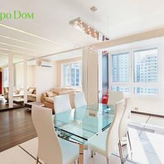 Ремонт трехкомнатной квартиры 103 кв. м в современном стиле: Столовые комнаты в . Автор – ЕвроДом,