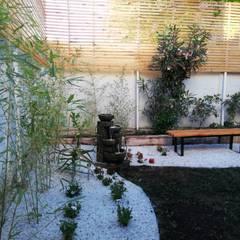 DISEÑO JARDÍN-PAISAJISMO EN SANTIAGO: Jardines de estilo  por HZ ARQUITECTOS SANTIAGO DISEÑO COCINAS JARDINES PAISAJISMO REMODELACIONES OBRA,