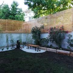 حديقة تنفيذ HZ ARQUITECTOS SANTIAGO DISEÑO COCINAS JARDINES PAISAJISMO REMODELACIONES OBRA, تبسيطي
