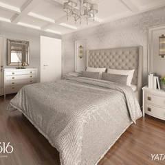 OFİS316 TASARIM PROJE UYGULAMA – Asmalıbahçeşehir Evi:  tarz Yatak Odası