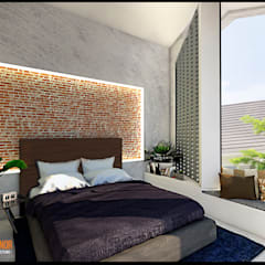 CV Leilinor Architect의  작은 침실
