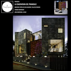LA CUADRATURA DEL TRIANGULO: Casas unifamiliares de estilo  por ESQUEMA ARQUITECTURA