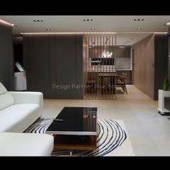 [주거공간] 아파트 인테리어 40평형대: Design Partner Blue box의  거실