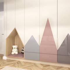 Nursery/kid's room by ANNA HIRSZBERG 'HIRSZBERG' PRACOWNIA ARCHITEKTONICZNA,