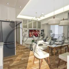 3- Bedroom Condominium Unit:  Kitchen by Corpuz interior design
