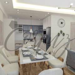 3- Bedroom Condominium Unit:  Dining room by Corpuz interior design